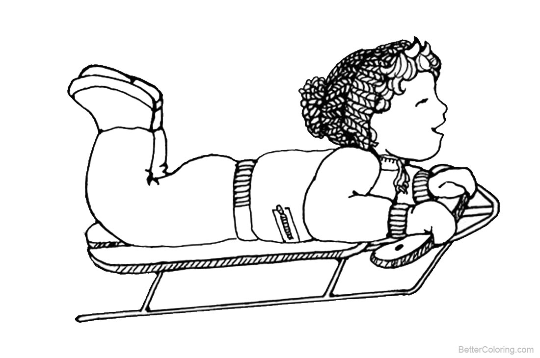 January Coloring Pages Winter Sports printable for free
