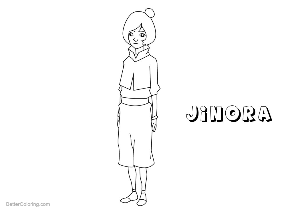 Free Jinora from The Legend of Korra Coloring Pages printable