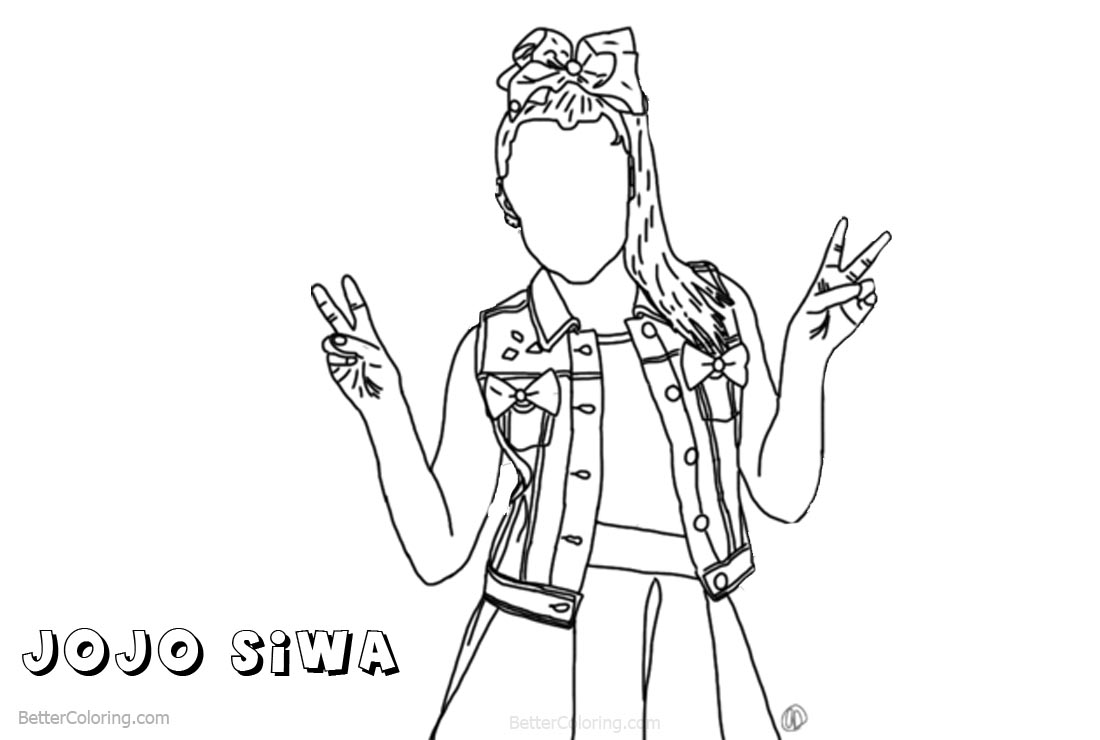 Jojo Siwa Coloring Pages Drawing
