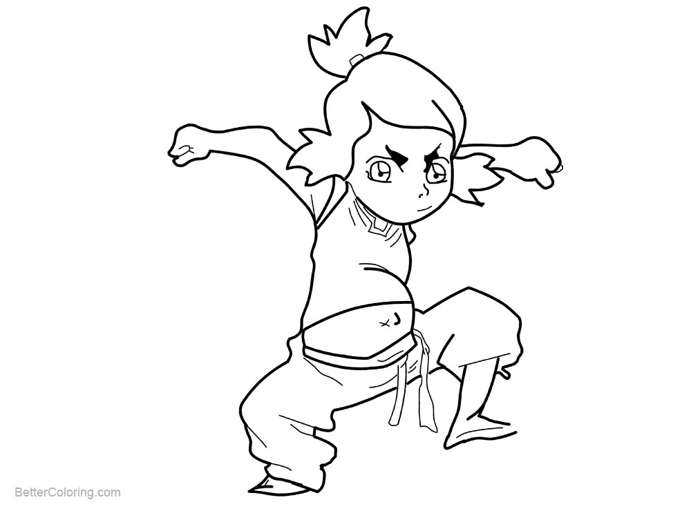 Kid from The Legend of Korra Coloring Pages - Free ...