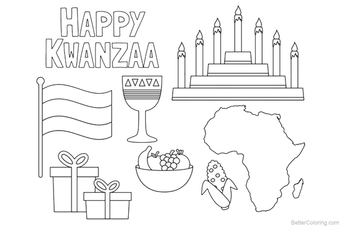 happy kwanzaa coloring pages - photo#8