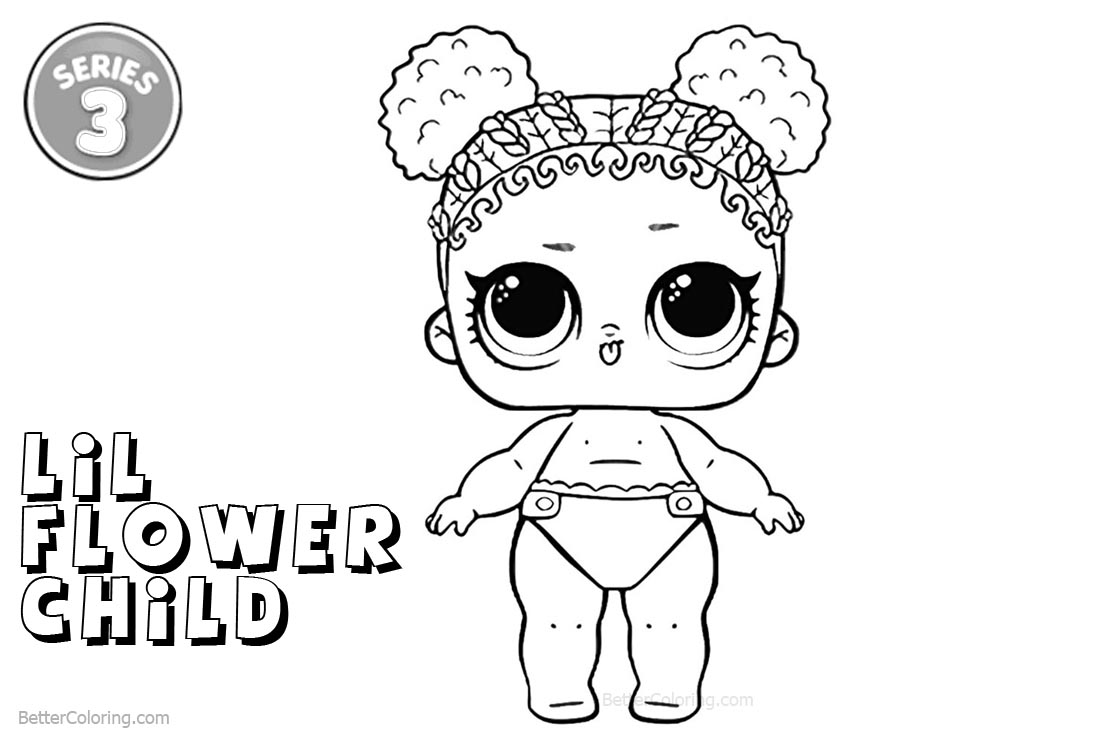 Free LOL Coloring Pages Series 3 Flower Child printable