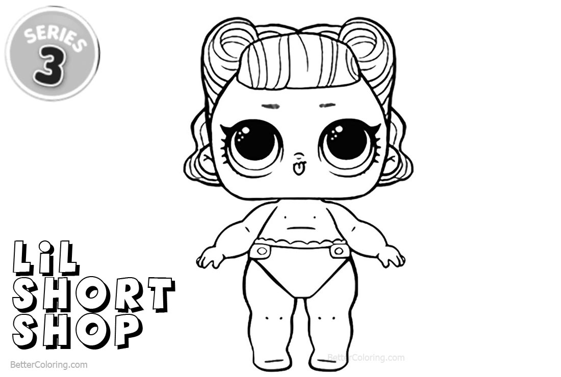 Free LOL Coloring Pages Series 3 Lil Short Stop printable