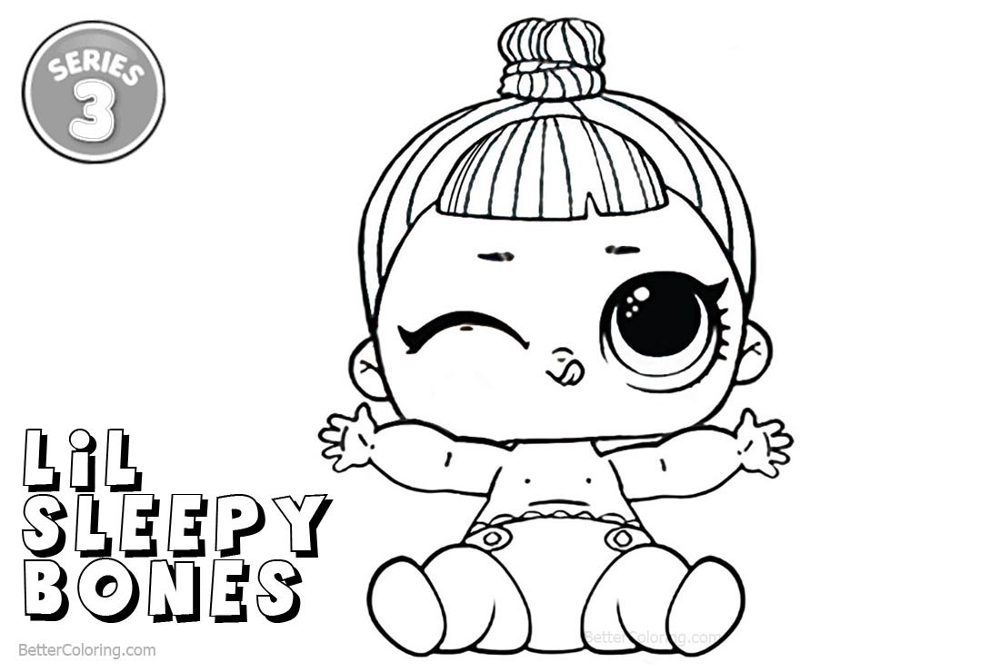 Lol Coloring Pages Series 3 Lil Sleepy Bones Free