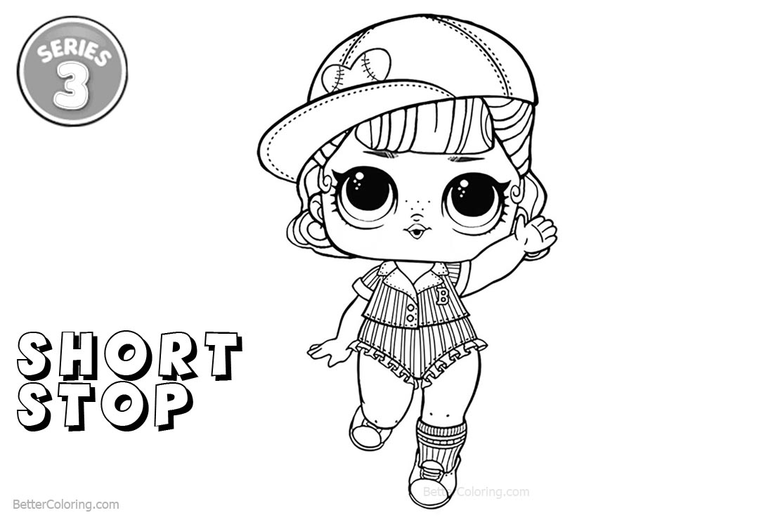 Free LOL Coloring Pages Series 3 Short Stop printable