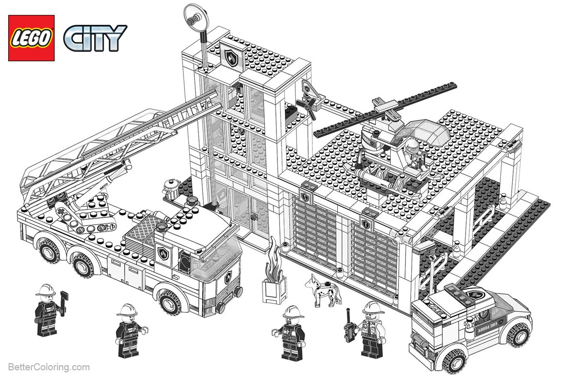 Lego City Coloring Pages Building Construction - Free ...