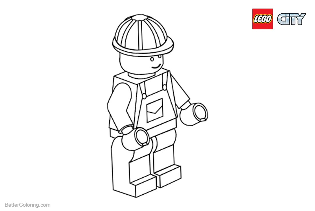 Lego City Coloring Pages Characters printable for free