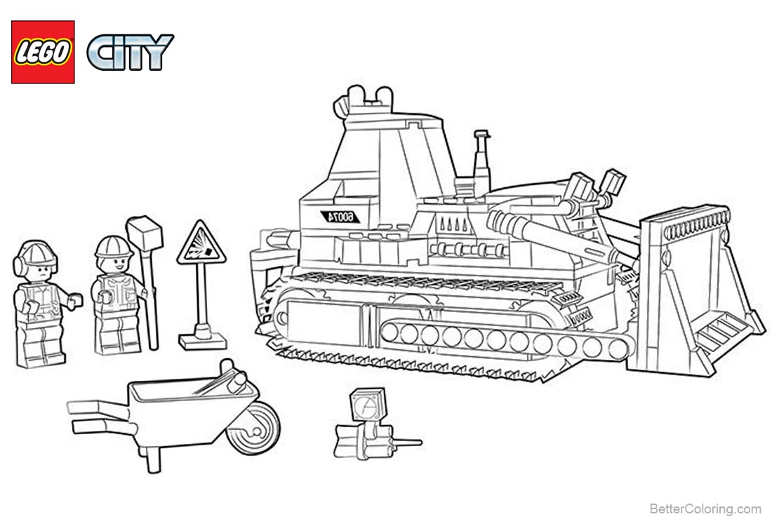 Lego City Coloring Pages City Construction printable for free