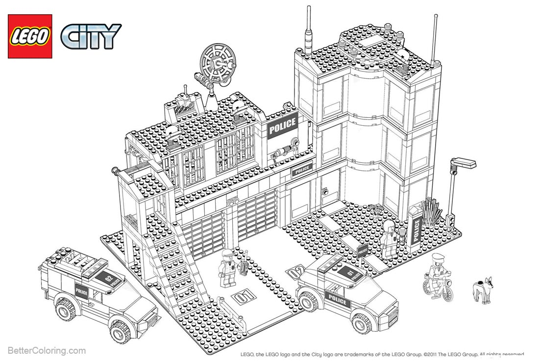 Lego City Coloring Pages Design printable for free