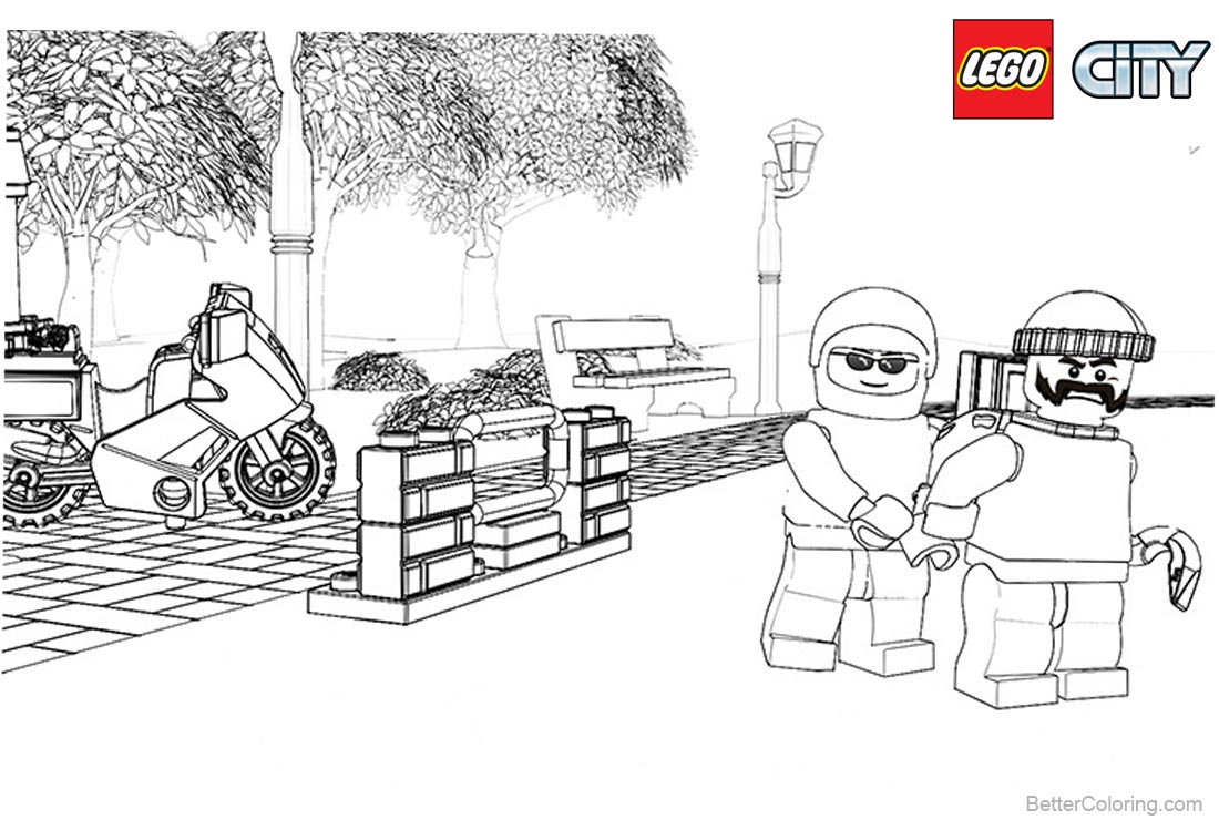 Lego City Coloring Pages Police