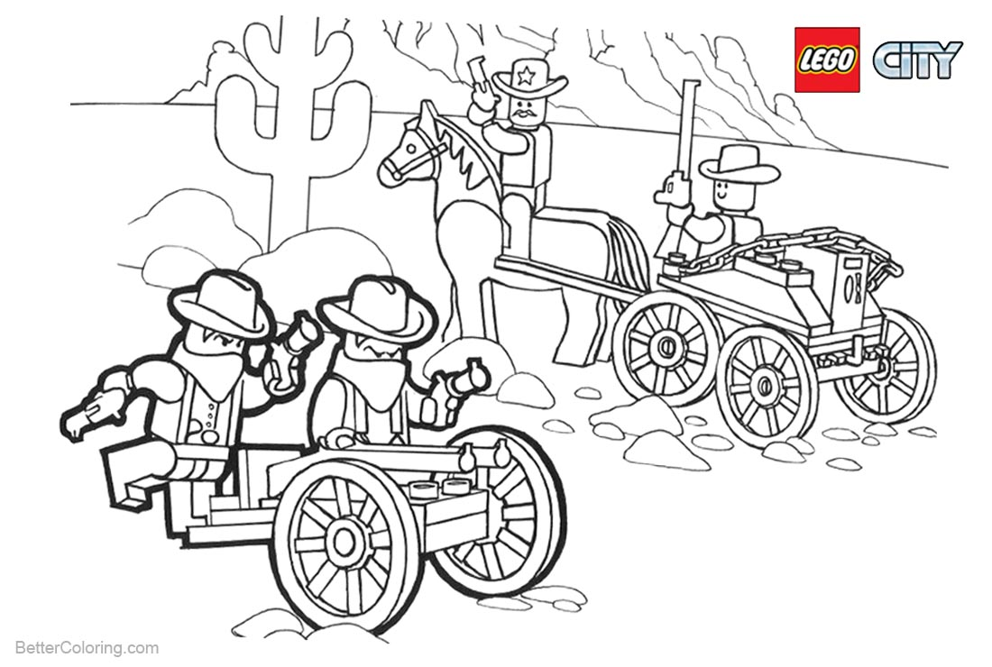 Lego City Coloring Pages Robbers printable for free