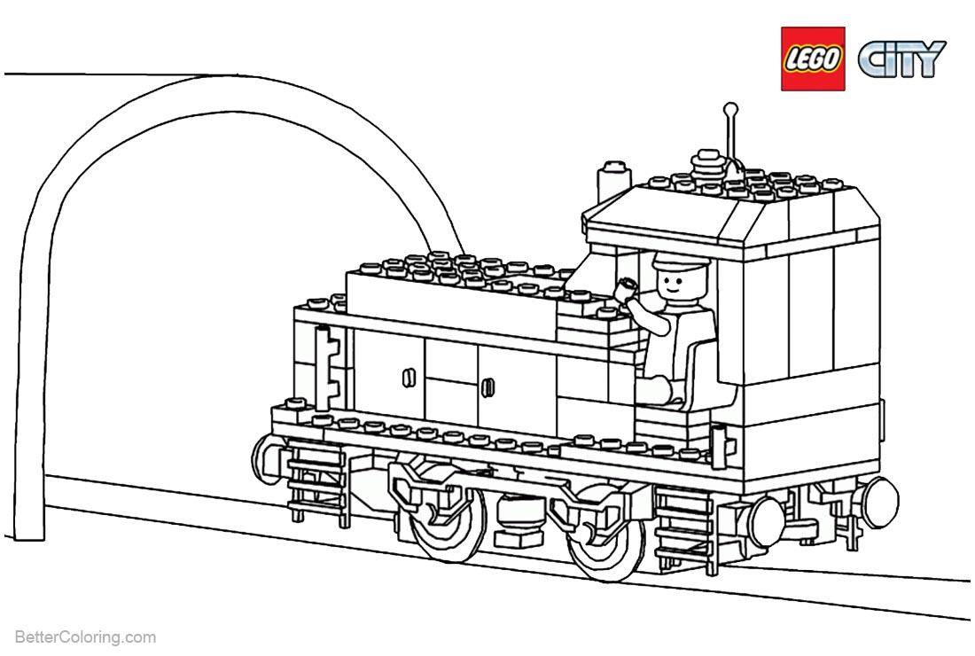 Lego City Coloring Pages Train - Free Printable Coloring Pages