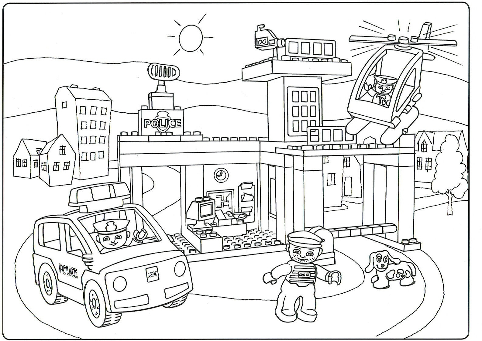 Lego City Coloring Pages printable for free