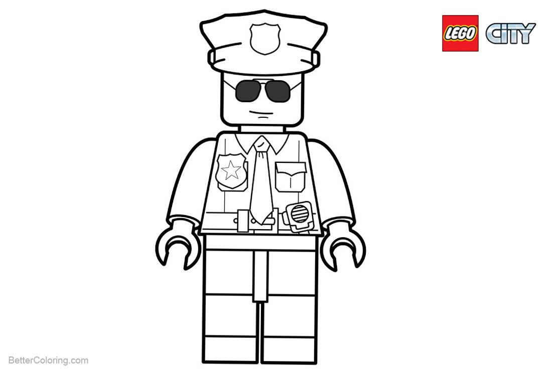 Lego City Police Coloring Pages