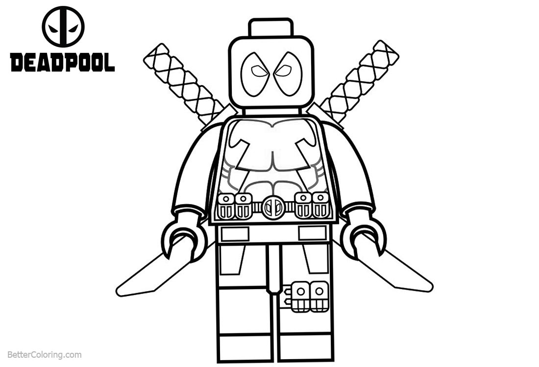 Lego Deadpool Coloring Pages Black and White - Free Printable ...