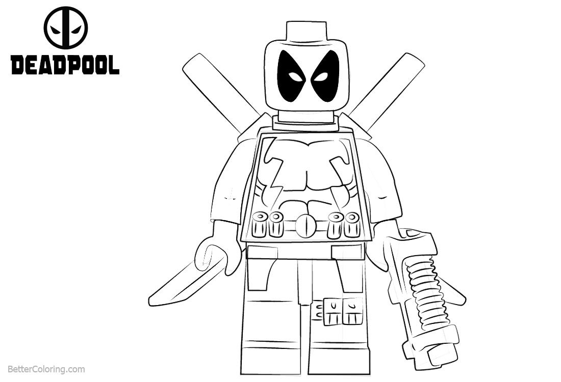 High Quality Lego Deadpool Coloring Pages Photos Page Ncsudan