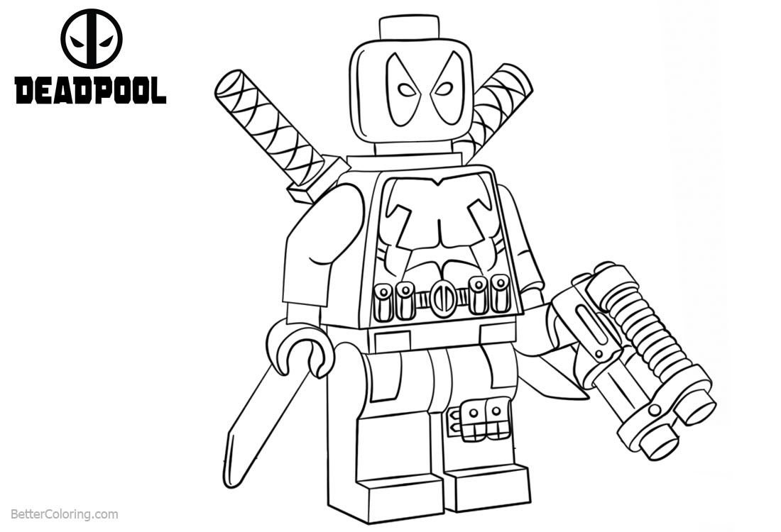 Lego Deadpool Coloring Pages printable for free