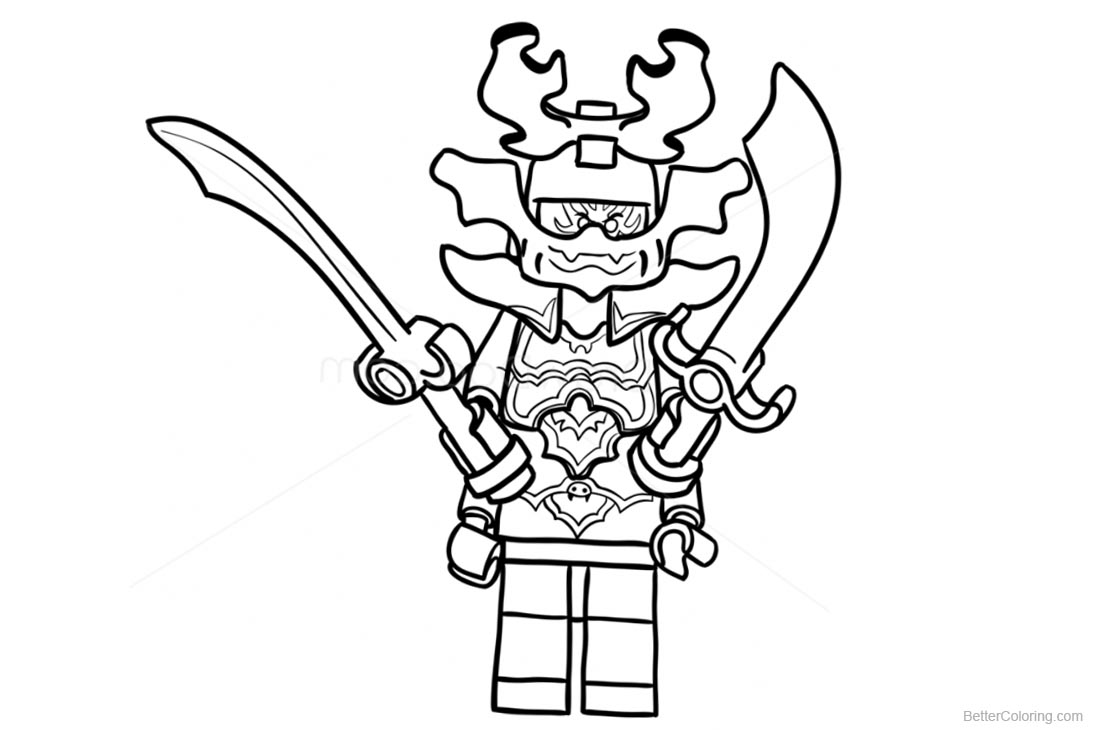 Lego Green Ninja go Coloring Pages printable for free