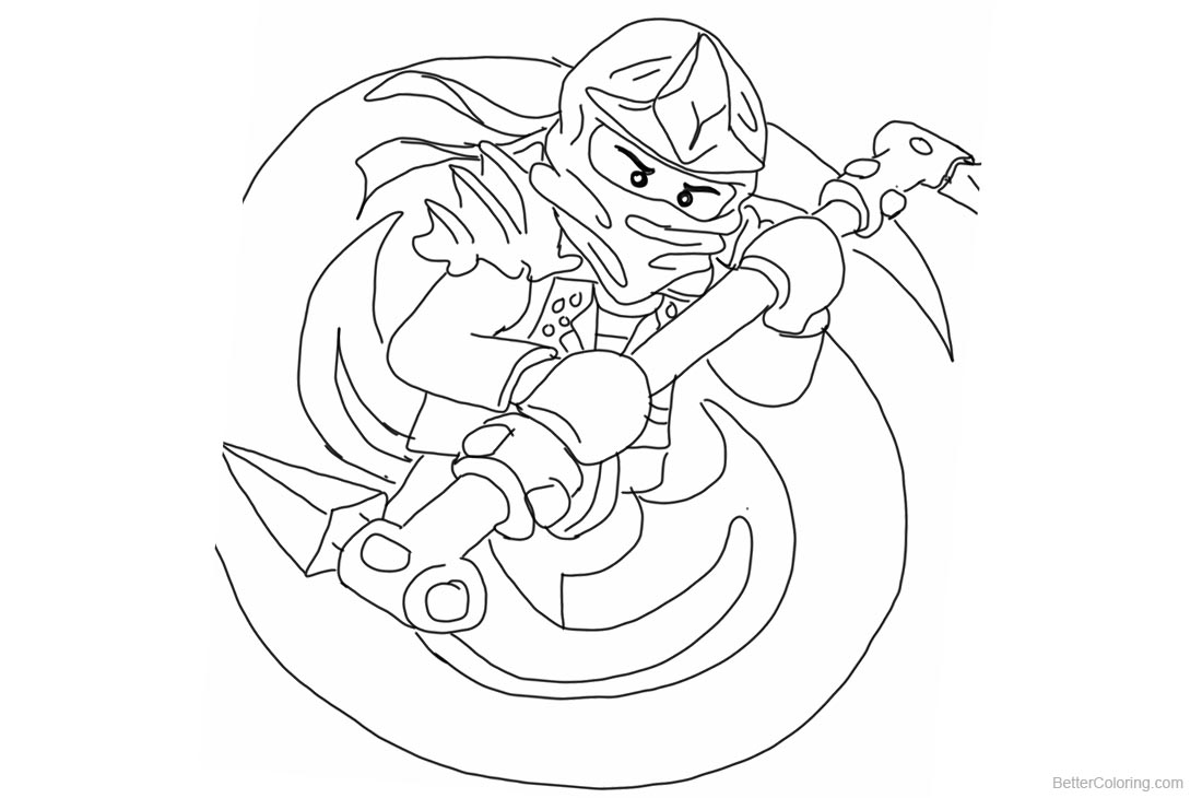 Lego Green Ninjago Coloring Pages printable for free