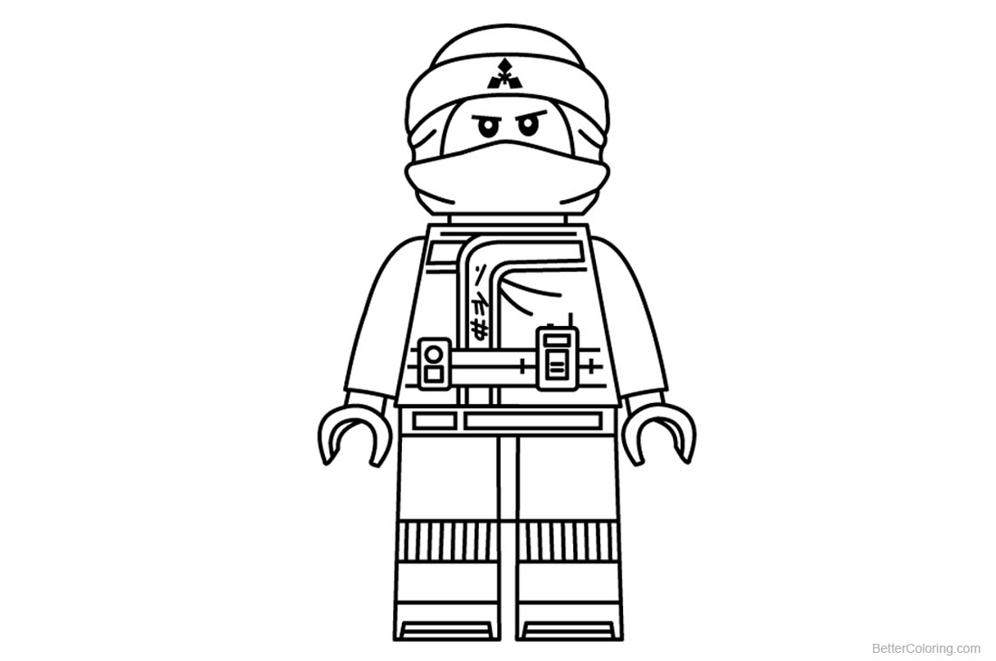 Lego Ninjago Coloring Pages Black and White printable for free