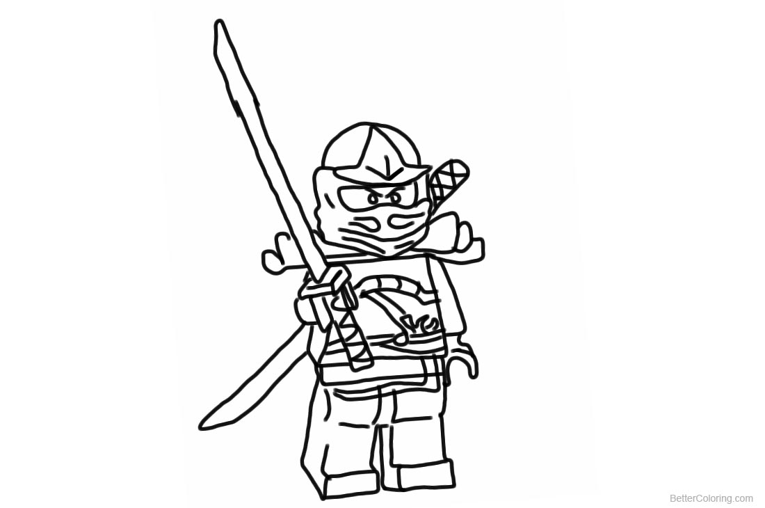 Lego Ninjago Coloring Pages Character printable for free