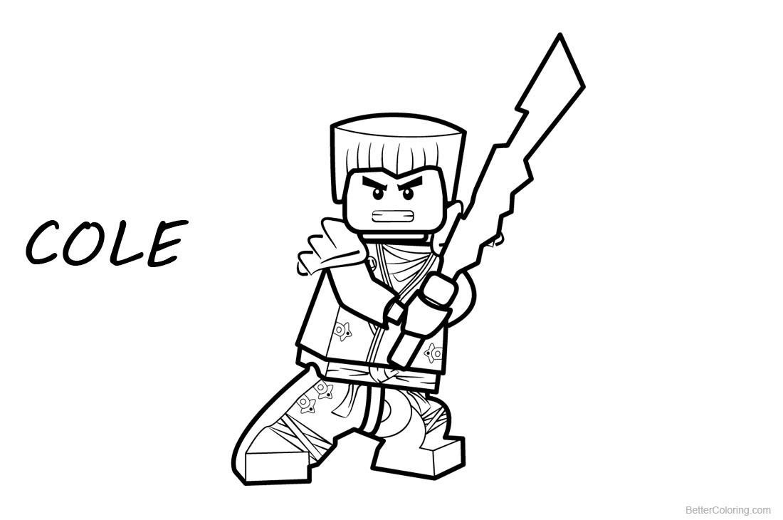 Lego Ninjago Coloring Pages Cole printable for free