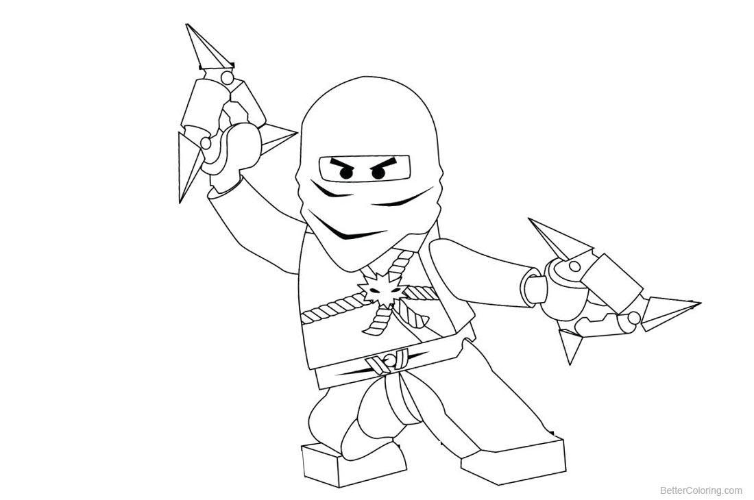 Lego Ninjago Coloring Pages Evil Green printable for free