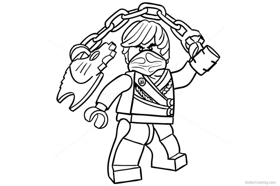 Lego Ninjago Coloring Pages Green Ninja printable for free