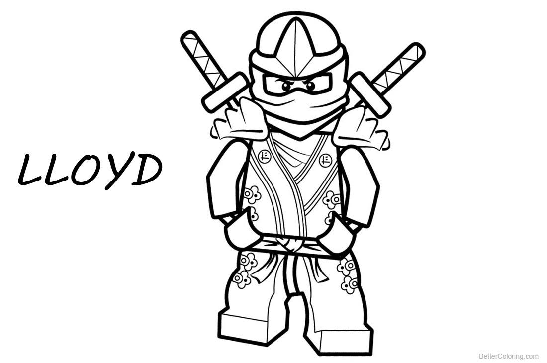 Lego Ninjago Coloring Pages Lloyd Free Printable
