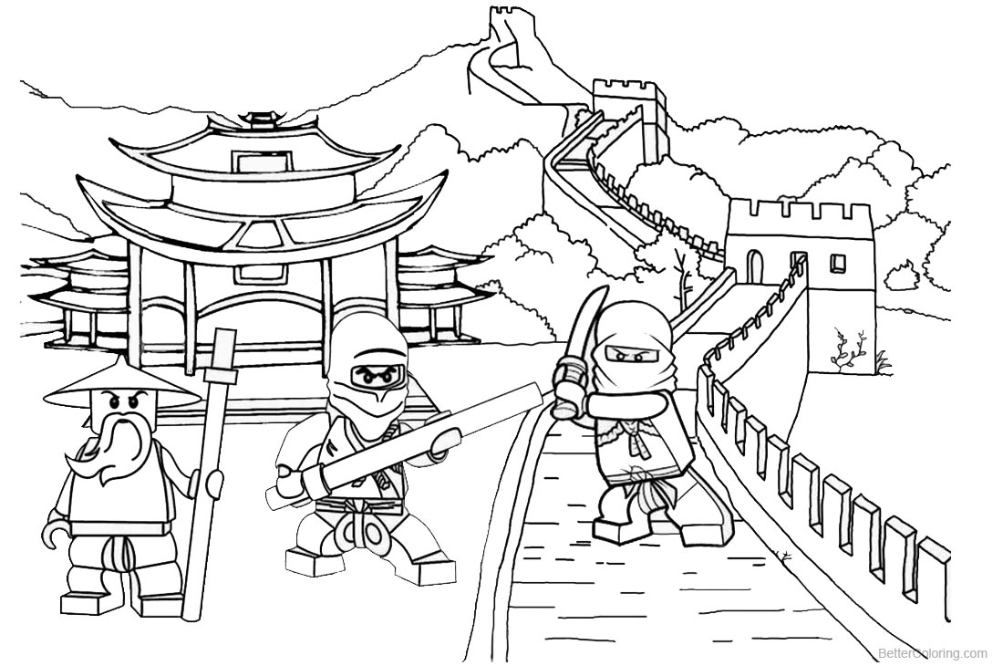 Lego Ninjago Coloring Pages Ninja Games in China printable for free