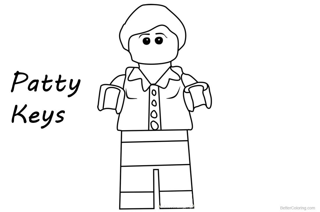 Lego Ninjago Coloring Pages Patty Keys printable for free
