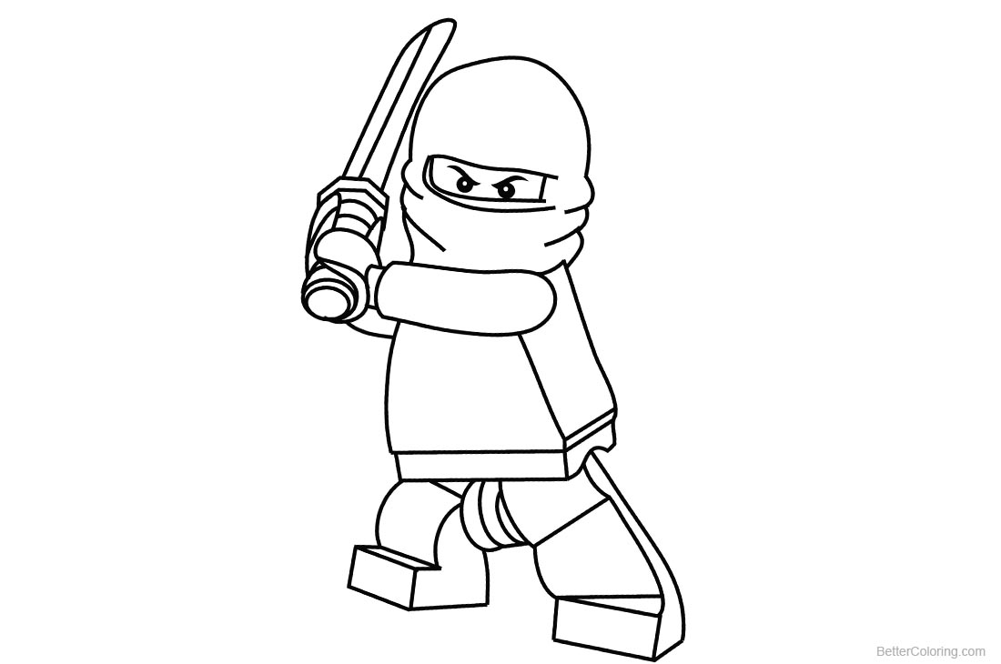 Lego Ninjago Coloring Pages Simple Drawing printable for free