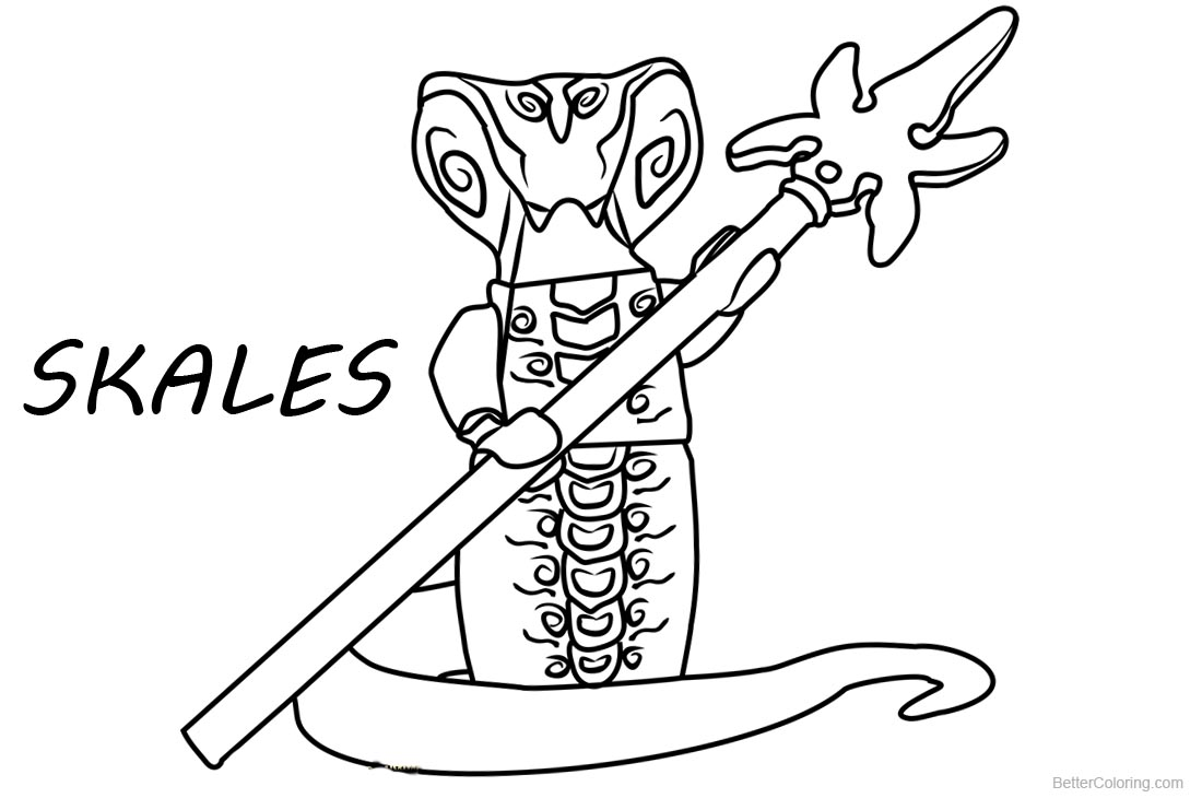 Lego Ninjago Coloring Pages Skales printable for free