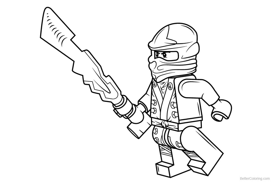 Lego Ninjago Coloring Pages Sketch printable for free