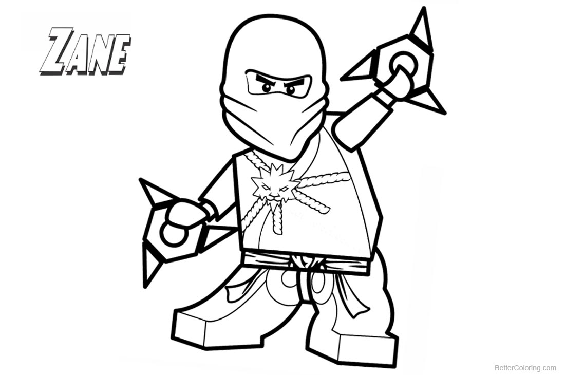 Lego Ninjago Coloring Pages Zane Lineart - Free Printable Coloring Pages