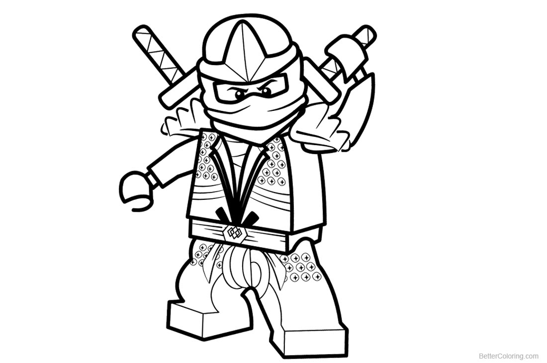 Lego Ninjago Coloring Pages printable for free