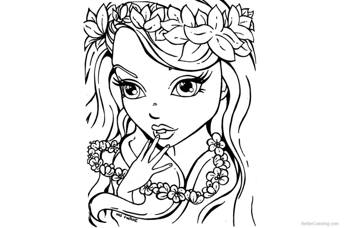 Lisa Frank Coloring Pages Black and White printable for free