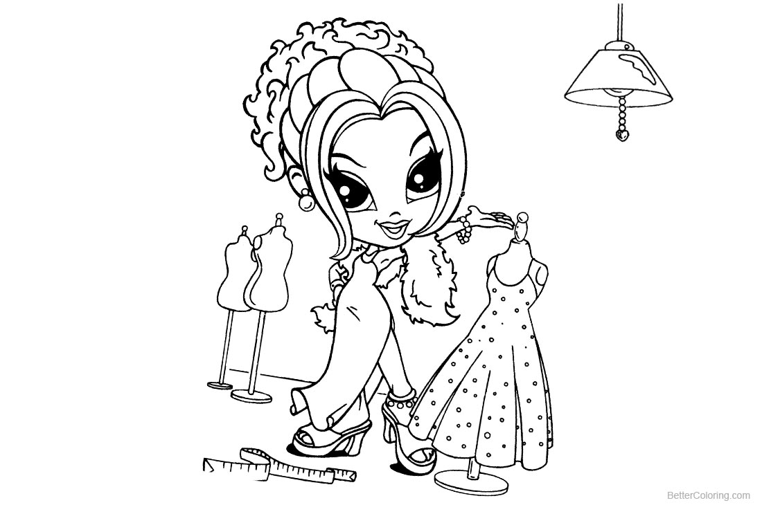 Lisa Frank Coloring Pages Lineart Try New Clothes printable for free