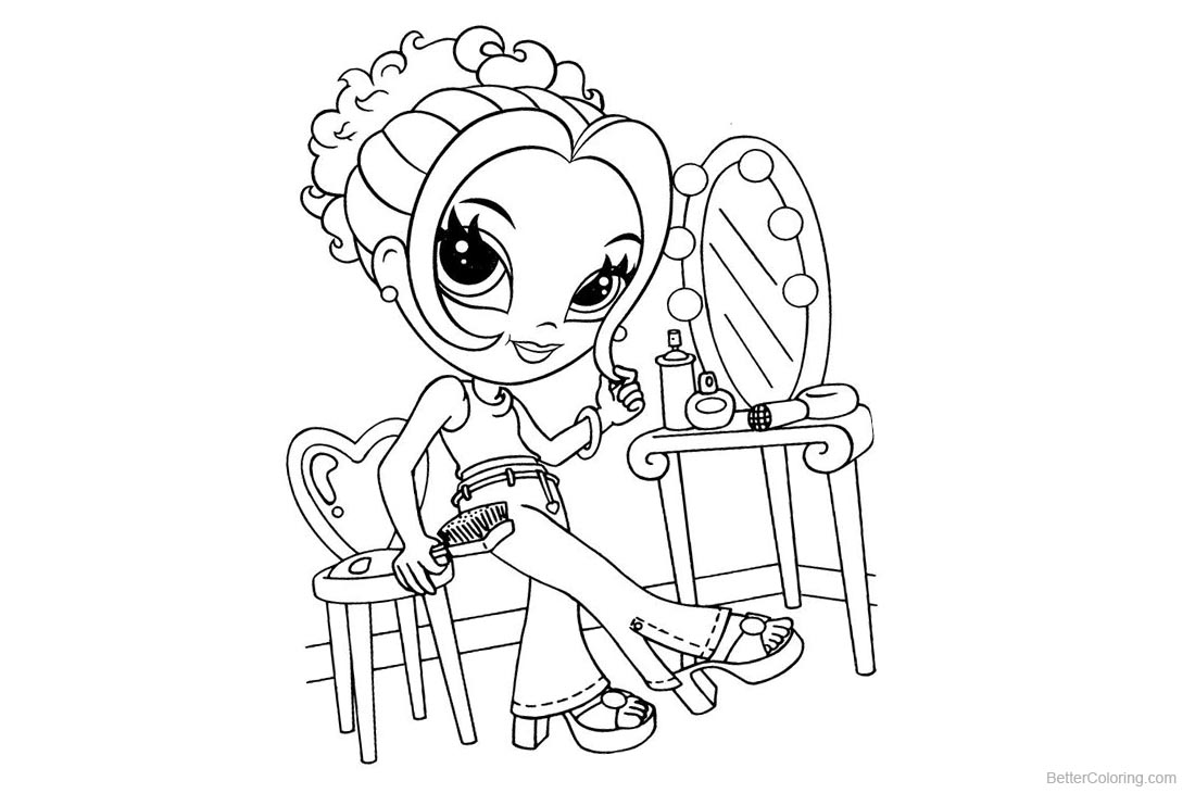 Lisa Frank Coloring Pages Makeup printable for free