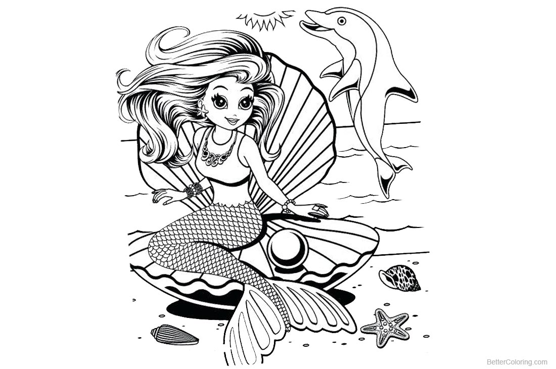 Lisa Frank Coloring Pages Mermaid printable for free