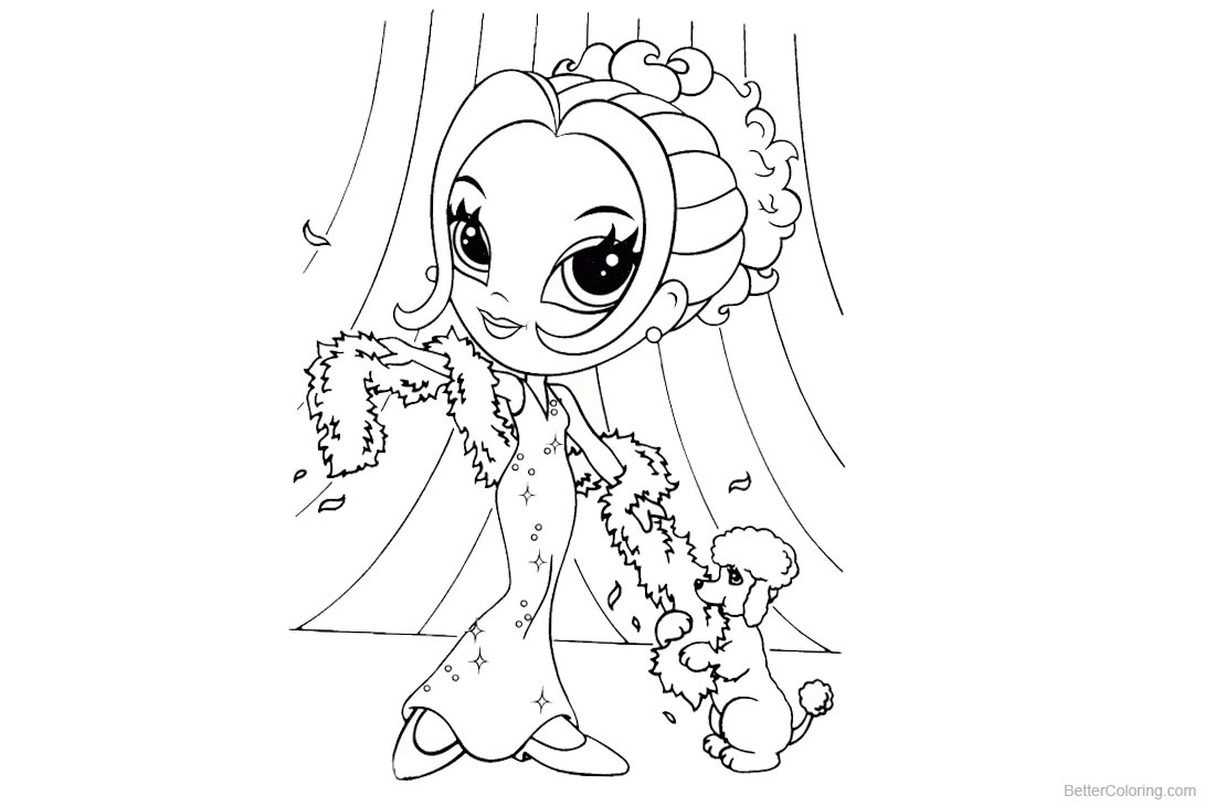 Lisa Frank Coloring Pages On the Stage printable for free