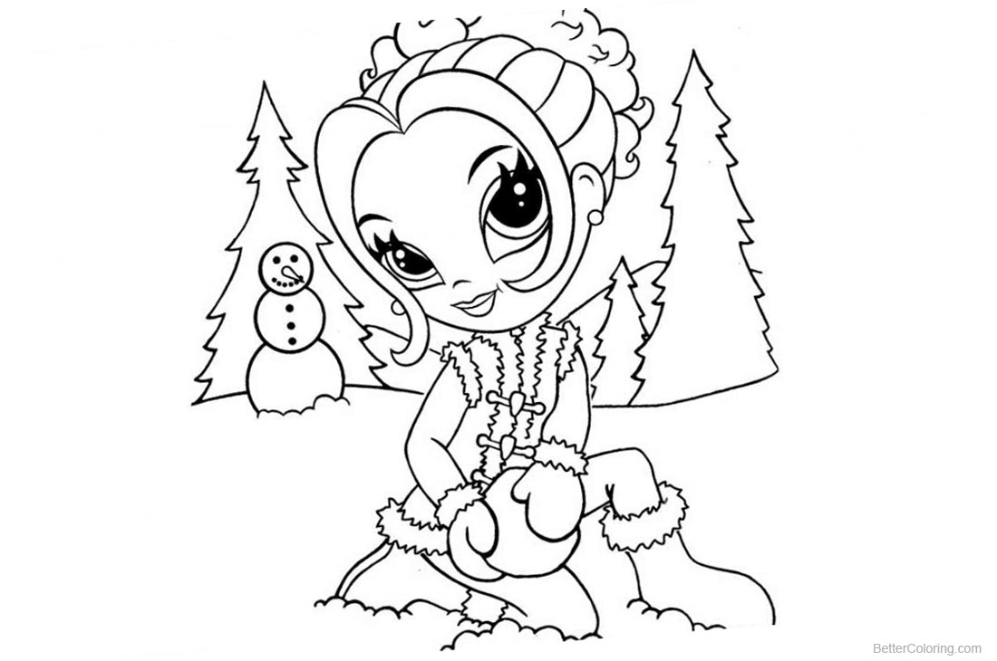 Lisa Frank Coloring Pages Play Snow printable for free