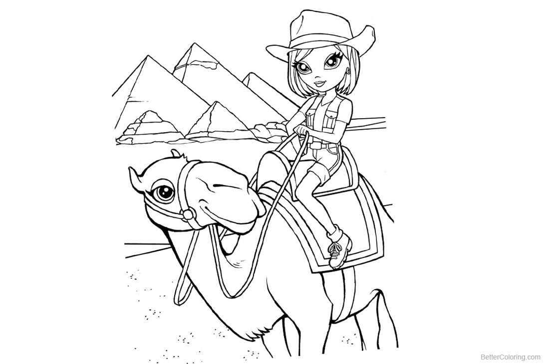 Lisa Frank Coloring Pages Ride A Camel - Free Printable Coloring Pages