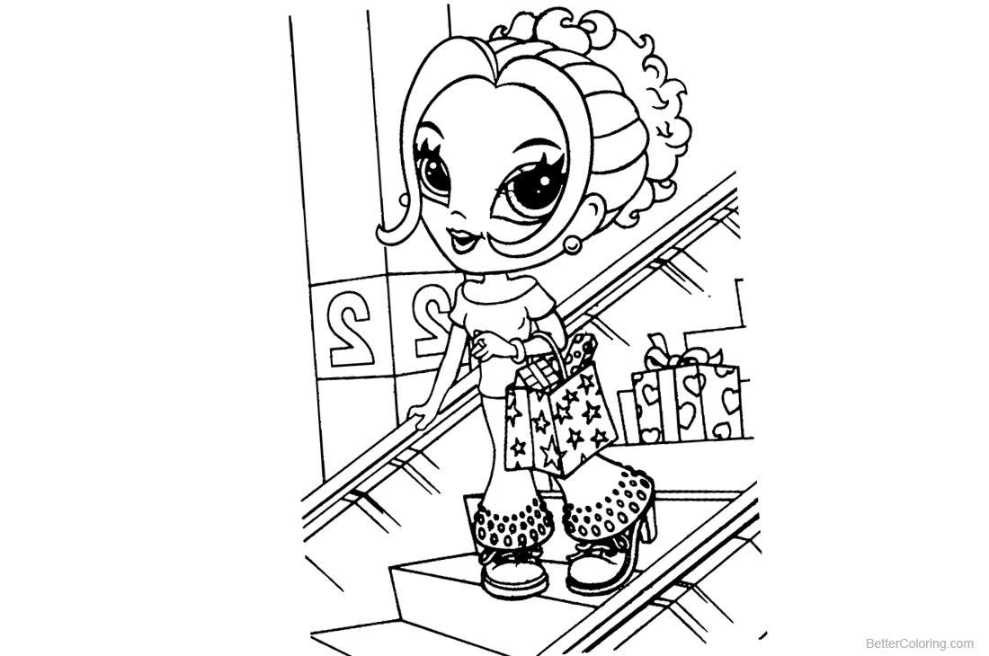 Lisa Frank Coloring Pages Shopping printable for free