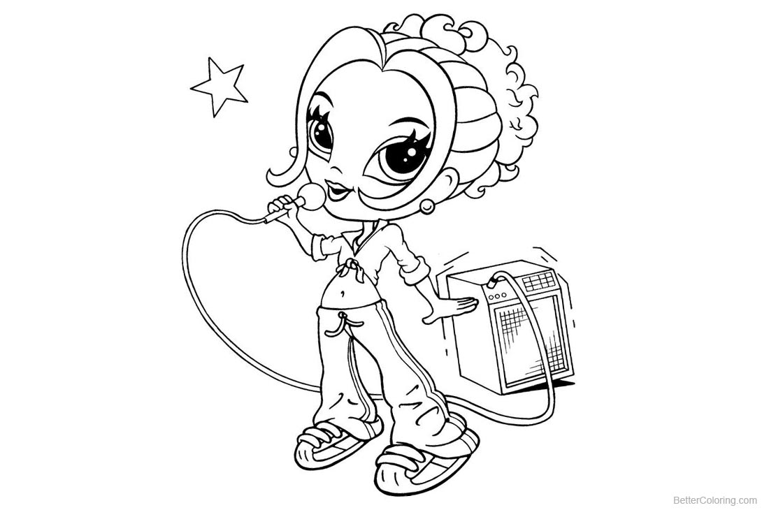 Lisa Frank Coloring Pages Singing Free Printable Coloring Pages
