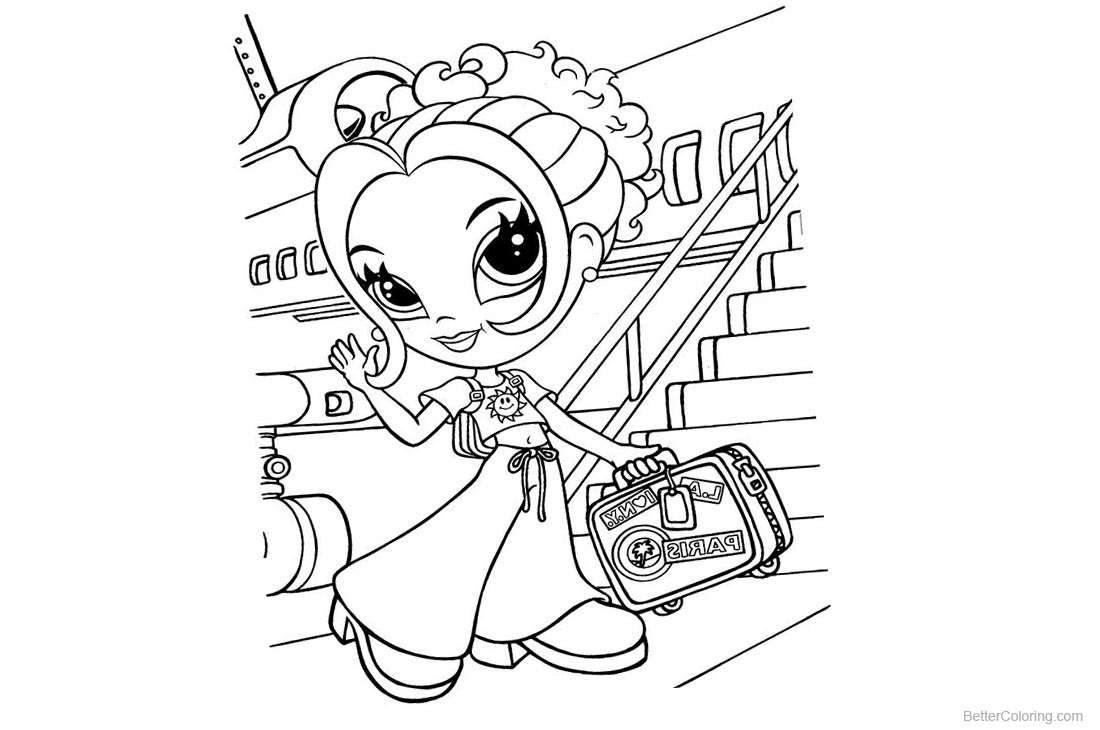 Lisa Frank Coloring Pages Travel by Plane printable for free