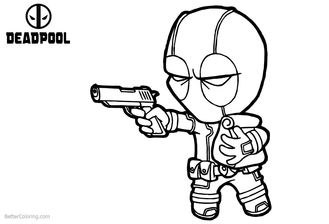 Little Baby Deadpool Coloring Pages printable for free