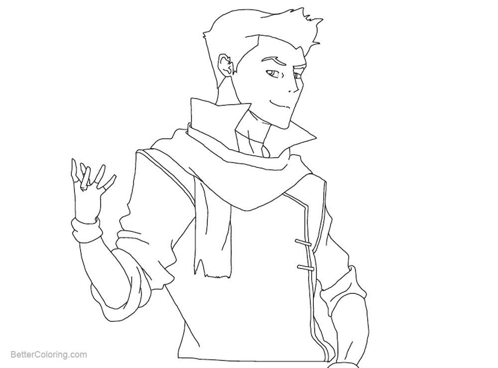 Free Mako from The Legend of Korra Coloring Pages by blossombritt printable