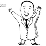 Martin Luther King Coloring Pages Cartoon