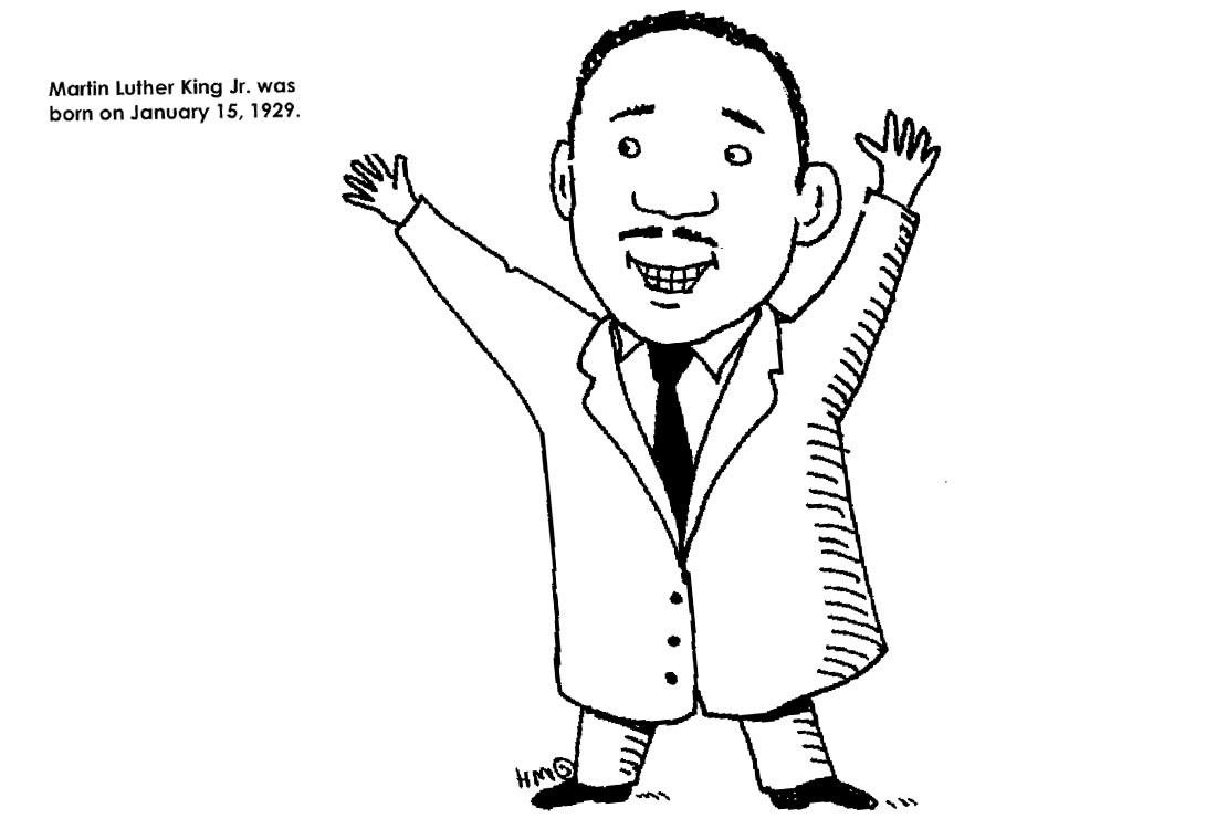 Martin Luther King Coloring Pages Cartoon - Free Printable